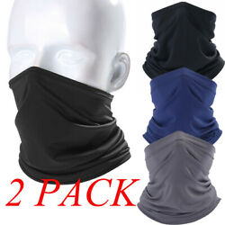 2Pcs Cooling Neck Gaiter Tube Face Cover Motorcycle Cycling Hunting Bandana US $12.98