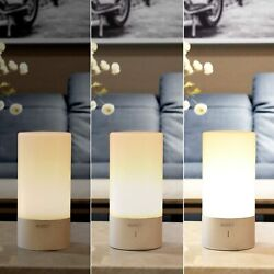 AUKEY Touch Sensor Bedroom Lamps Small Table Lamps Dimmable Color Changing $17.67