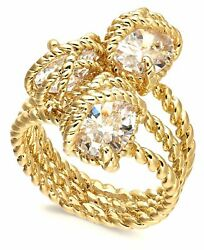 Charter Club Stone Trio Rope Ring Gold-Tone $4.99