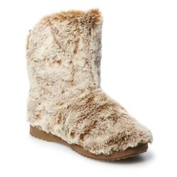 Ultra Soft Brown Faux Fur Boot Slippers Indoor Outdoor Large 9 10 $35.00
