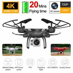 Drone x Pro Foldable Quadcopter 4K 1080P Camera| WiFi FPV GPS 3D RC 6-axis 2020 $52.69