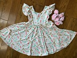 NWT Dot Dot Smile Twirly Summer dress Girls Empire Pastel Faders $24.99