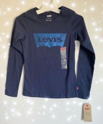 Levi#x27;s Girls Long Sleeve Cotton T Shirt Blue Choose your Size S M L $15.99
