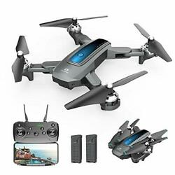 DEERC D10 Foldable Drone with Camera 720P HD Live Video,Tap Fly, Gesture Control $82.14