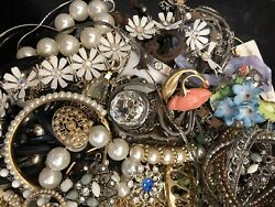 Jewelry Vintage Modern Huge Lot Craft Junk Wearable Box 1 FULL POUND $25.00