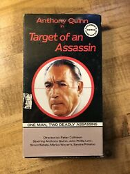 RARE OOP TARGET OF AN ASSASSIN VHS VIDEO TAPE ANTHONY QUINN ACTION THRILLER $5.99