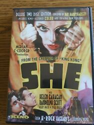 SHE DVD Deluxe 2 Disc Edition 2007 Kino Movie a Merian C Cooper Production