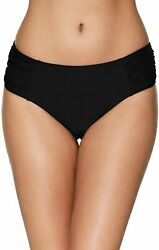 ATTRACO Women#x27;s Bikini Bottoms High Cut Swim Bottom Ruched Swimwear Briefs $27.83
