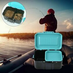 Fishing Live Lure Bait Worm Tackle Holder Storage Box Case Container Organizer $10.02
