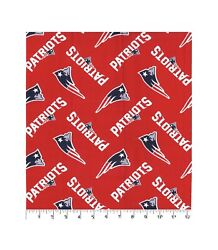 "New England Patriots NFL Red 100% Cotton Fabric 18""x 21"" NEW LOGO PRINT! $9.20"