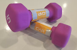 Set of (2) CAP Hex Neoprene 5lb Pound Dumbells 1 Pair NEW 10Lbs Total SHIPS FAST $28.89