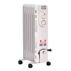 1500W Electric Oil Filled Radiator Portable Space Heater Thermostat Radiant $54.69