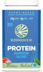 Sunwarrior Warrior Blend Powder with BCAAs and Pea Protein Natural 750g $35.39
