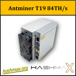 Antminer T19 84T PSU included Best bitcoin miner  $2,545.00