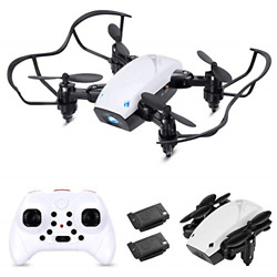 Kids and Adults Foldable Mini Drone RC Quadcopter for Beginner Indoor APP Con... $26.66