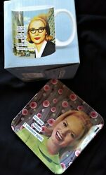 Anne Taintor She Was Comforted Ceramic Mug Cup wVolunteer Side Dish BOTH NEW