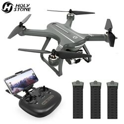 Holy Stone HS700D camera drone 2K FHD brushless RC quadcopter 5G WIFI FPV tapfly $269.99