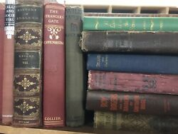 Lot of 10 Vintage Old Rare Antique Hardcover Books Mixed Color Random $31.99