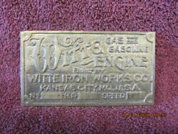 Witte hit and miss engine Brass Tag $99.00