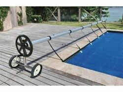 Stainless Steel 21 ft InGround Swimming Pool Cover Reel Tube Set Solar Cover $24.99