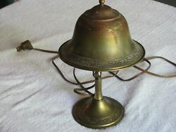 Antique Brass Creist Industrial  DeskWall Electric Lamp With Brass Shade.. $89.99