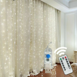 300 LED Curtain Fairy Lights USB String Light With Remote Xmas Party Wedding US $13.99