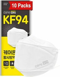 Care On 4-Layers KF94 Certified Face Safety Adult Mask Made in Korea Pack of 10 $27.99