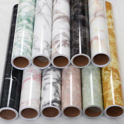 Glossy Marble Vinyl Kitchen Cabinet Furniture Protective Wallpaper Wrap Film $10.34