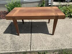 Vintage Mid-Century Modern Mixed Wood Coffee Table $120.00