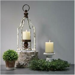 Glitzhome 16.5#x27;#x27; Farmhouse Iron Decorative Hanging Candle Lantern for Home Party $28.32