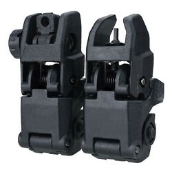 1 Pair 20mm Flip-up Tactical Sight Folding Backup Sights Front & Rear Set $9.11