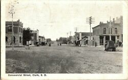1909. CLARK SD. COMMERCIAL STREET VIEW. POSTCARD SC22 $20.00
