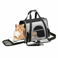 Pet Carrier Bag Soft Sided Travel Crate Puppyamp;Cat Comfort Tote Airline Approved $16.99
