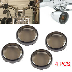 4 x Smoke Turn Signal Light Cover Lens for Harley Touring Dyna Sportster Softail $9.99
