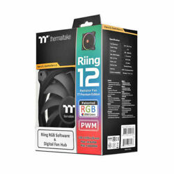Thermaltake Riing 12 RGB 256 Colors Radiator Fans 3 amp; 1 controller Free Shipping $33.99