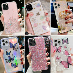 For Iphone 12 Pro Max 11 8 XS Max XR Bling GLITTER Sparkle Cute Phone Case Cover $7.99