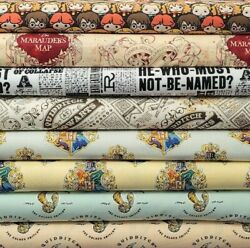 Harry Potter Traits Cotton Fabric By The 14 Yard for Face Mask - CHOOSE HOUSE - $6.95