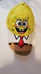 Spongebob Hat Cap Baseball Youth Child Kid Yellow Nick Nickelodeon Squarepants $14.90