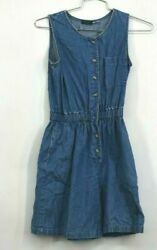 Vintage Willow Bend Denim Dress Womens Casual Everyday Evening Summer Size 12 $19.99