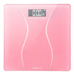 Pink Digital Personal Scale Electronic LCD Glass 6mm Thick Bathroom Body Weight $15.90