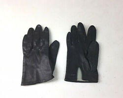 VINTAGE Black Leather Driving Gloves Womens XS $22.45