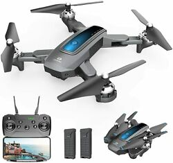 Holy Stone HS240 D10 Foldable Drone with Camera 720P FPV Quadcopter 2 Batteries $59.99