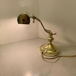 Brass Bankers Piano Desk Lamp Light - Adjustable $18.75