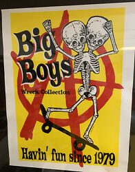 BIG BOYS Poster BY Swampco KBD Lindsay Kuhn TEXAS PUNK RARE Wreck Collection $35.00