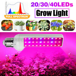 203040LED 4W-8W E27 Grow Light Full Spectrum Lamp For Indoor Plant Hydroponic $10.37