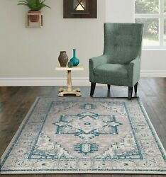 Traditional Area Rugs for Living Room Indoor Outdoor Patio 8x11 Rugs 5x7 Carpet $49.94