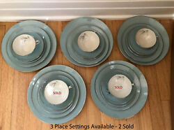 Franciscan Silver Pine 5 Piece Place Settings Mid Century Modern China $95.00