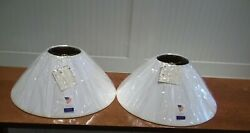 A Pair of 16quot; White Coolie style Lamp Shades by Lake Shore Studios Open Box $24.97