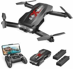 Holy Stone HS160 Pro Foldable Drone 1080p HD WiFi Camera quadcopter 2 batteries $63.99
