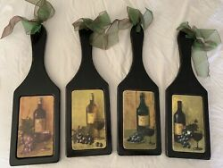 Wooden Wine Wall Decor Set of 4 $25.00